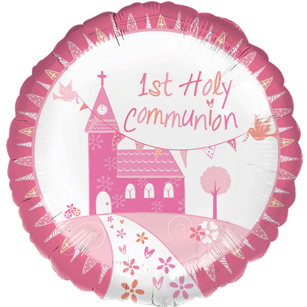 Communion Church Pink - Foil Balloon